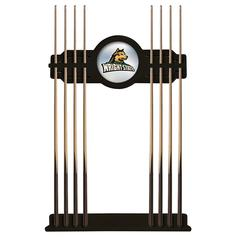 Wright State Cue Rack in Black Finish