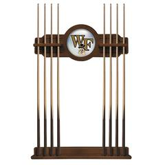 Wake Forest Cue Rack in Chardonnay Finish