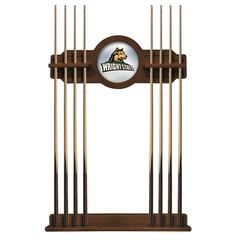 Wright State Cue Rack in Chardonnay Finish
