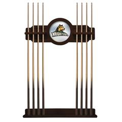 Wright State Cue Rack in English Tudor Finish