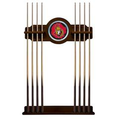 Ottawa Senators Cue Rack in Chardonnay Finish