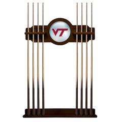 Virginia Tech Cue Rack in Navajo Finish