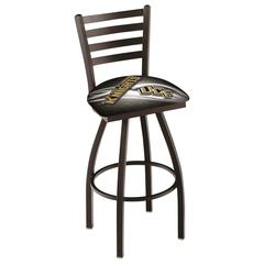 "L014 - 30"" Black Wrinkle Central Florida Swivel Bar Stool with Ladder Style Back by Holland Bar Stool Co."