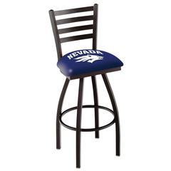 "L014 - 25"" Black Wrinkle Nevada Swivel Bar Stool with Ladder Style Back by Holland Bar Stool Co."