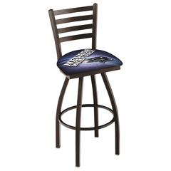 """L014 - 30"""" Black Wrinkle Nevada Swivel Bar Stool with Ladder Style Back by Holland Bar Stool Co."""