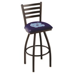 "L014 - 30"" Black Wrinkle North Carolina Swivel Bar Stool with Ladder Style Back by Holland Bar Stool Co."