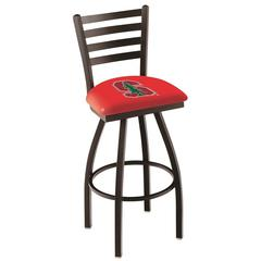 """L014 - 25"""" Black Wrinkle Stanford Swivel Bar Stool with Ladder Style Back by Holland Bar Stool Co."""