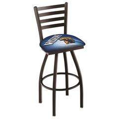"""L014 - 25"""" Black Wrinkle Kentucky """"Wildcat"""" Swivel Bar Stool with Ladder Style Back by Holland Bar Stool Co."""
