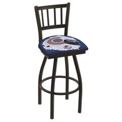 """L018 - 36"""" Black Wrinkle Colorado Avalanche Swivel Bar Stool with Jailhouse Style Back by Holland Bar Stool Co."""