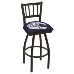 """L018 - 36"""" Black Wrinkle Tampa Bay Lightning Swivel Bar Stool with Jailhouse Style Back by Holland Bar Stool Co."""