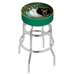 "30"" L7C1 - 4"" Baylor Cushion Seat with Double-Ring Chrome Base Swivel Bar Stool by Holland Bar Stool Company"