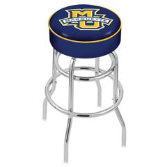 "30"" L7C1 - 4"" Marquette Cushion Seat with Double-Ring Chrome Base Swivel Bar Stool by Holland Bar Stool Company"