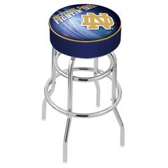 "25"" L7C1 - 4"" Notre Dame (ND) Cushion Seat with Double-Ring Chrome Base Swivel Bar Stool by Holland Bar Stool Company"
