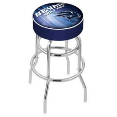 "25"" L7C1 - 4"" Nevada Cushion Seat with Double-Ring Chrome Base Swivel Bar Stool by Holland Bar Stool Company"