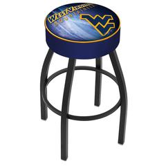 "25"" L8B1 - 4"" West Virginia Cushion Seat with Black Wrinkle Base Swivel Bar Stool by Holland Bar Stool Company"