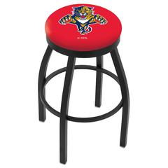 "25"" L8B2B - Black Wrinkle Florida Panthers Swivel Bar Stool with Accent Ring by Holland Bar Stool Company"