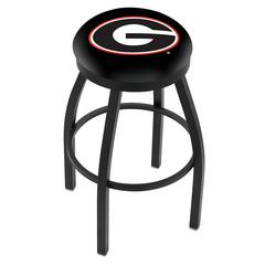 "25"" L8B2B - Black Wrinkle Georgia ""G"" Swivel Bar Stool with Accent Ring by Holland Bar Stool Company"