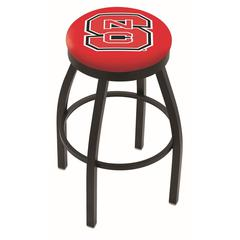 "25"" L8B2B - Black Wrinkle North Carolina State Swivel Bar Stool with Accent Ring by Holland Bar Stool Company"
