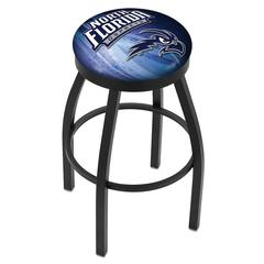 """36"""" L8B2B - Black Wrinkle North Florida Swivel Bar Stool with Accent Ring by Holland Bar Stool Company"""