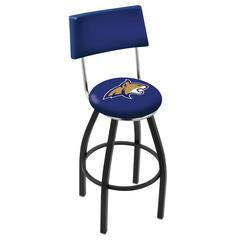 "25"" L8B4 - Black Wrinkle Montana State Swivel Bar Stool with a Back by Holland Bar Stool Company"