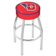 "30"" L8C1 - 4"" University of Dayton Cushion Seat with Chrome Base Swivel Bar Stool by Holland Bar Stool Company"