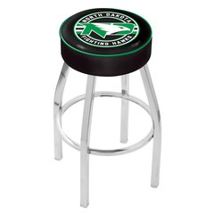 "25"" L8C1 - 4"" North Dakota Cushion Seat with Chrome Base Swivel Bar Stool by Holland Bar Stool Company"