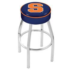 "30"" L8C1 - 4"" Syracuse Cushion Seat with Chrome Base Swivel Bar Stool by Holland Bar Stool Company"