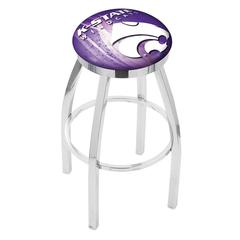 "36"" L8C2C - Chrome Kansas State Swivel Bar Stool with Accent Ring by Holland Bar Stool Company"