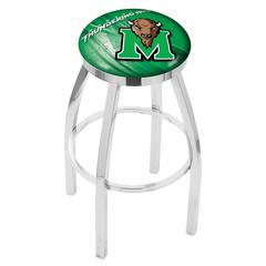 """30"""" L8C2C - Chrome Marshall Swivel Bar Stool with Accent Ring by Holland Bar Stool Company"""