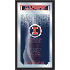 "Illinois 26"" x 15"" Fight Song Mirror by Holland Bar Stool Company"