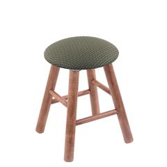 Maple Round Cushion Vanity Stool with Smooth Legs, Medium Finish, Axis Grove Seat, and 360 Swivel