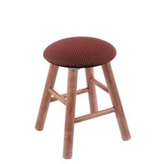 Maple Round Cushion Vanity Stool with Smooth Legs, Medium Finish, Axis Paprika Seat, and 360 Swivel