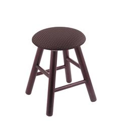 Oak Round Cushion Vanity Stool with Smooth Legs, Dark Cherry Finish, Axis Truffle Seat, and 360 Swivel