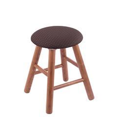 Holland Bar Stool Co. Oak Round Cushion Vanity Stool with Smooth Legs, Medium Finish, Axis Truffle Seat, and 360 Swivel