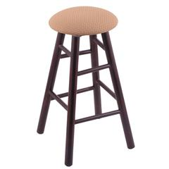 Holland Bar Stool Co. Maple Round Cushion Extra Tall Bar Stool with Smooth Legs, Dark Cherry Finish, Axis Summer Seat, and 360 Swivel