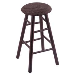 Holland Bar Stool Co. Maple Round Cushion Bar Stool with Smooth Legs, Dark Cherry Finish, Axis Truffle Seat, and 360 Swivel