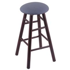 Maple Round Cushion Counter Stool with Smooth Legs, Dark Cherry Finish, Rein Bay Seat, and 360 Swivel