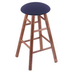 Holland Bar Stool Co. Maple Round Cushion Counter Stool with Smooth Legs, Medium Finish, Axis Denim Seat, and 360 Swivel