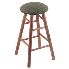 Holland Bar Stool Co. Maple Round Cushion Extra Tall Bar Stool with Smooth Legs, Medium Finish, Axis Grove Seat, and 360 Swivel