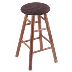Maple Round Cushion Extra Tall Bar Stool with Smooth Legs, Medium Finish, Axis Truffle Seat, and 360 Swivel