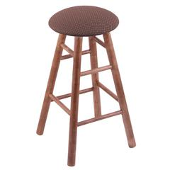 Maple Round Cushion Bar Stool with Smooth Legs, Medium Finish, Axis Willow Seat, and 360 Swivel