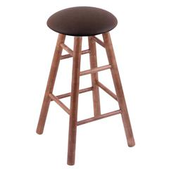 Holland Bar Stool Co. Maple Round Cushion Counter Stool with Smooth Legs, Medium Finish, Rein Coffee Seat, and 360 Swivel