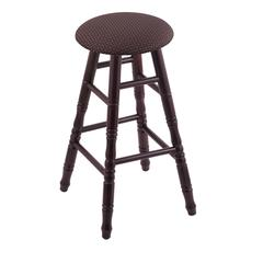 Holland Bar Stool Co. Maple Round Cushion Bar Stool with Turned Legs, Dark Cherry Finish, Axis Truffle Seat, and 360 Swivel