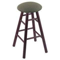 Holland Bar Stool Co. Oak Round Cushion Bar Stool with Smooth Legs, Dark Cherry Finish, Axis Grove Seat, and 360 Swivel