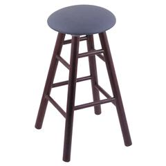 Oak Round Cushion Bar Stool with Smooth Legs, Dark Cherry Finish, Rein Bay Seat, and 360 Swivel