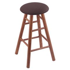 Holland Bar Stool Co. Oak Round Cushion Bar Stool with Smooth Legs, Medium Finish, Axis Truffle Seat, and 360 Swivel