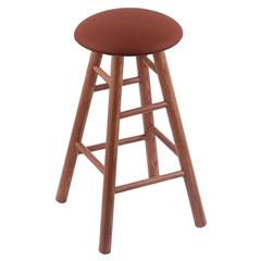 Holland Bar Stool Co. Oak Round Cushion Bar Stool with Smooth Legs, Medium Finish, Rein Adobe Seat, and 360 Swivel