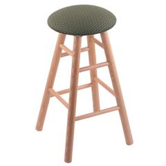 Oak Round Cushion Bar Stool with Smooth Legs, Natural Finish, Axis Grove Seat, and 360 Swivel
