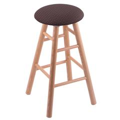 Oak Round Cushion Counter Stool with Smooth Legs, Natural Finish, Axis Truffle Seat, and 360 Swivel