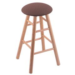 Holland Bar Stool Co. Oak Round Cushion Counter Stool with Smooth Legs, Natural Finish, Axis Willow Seat, and 360 Swivel